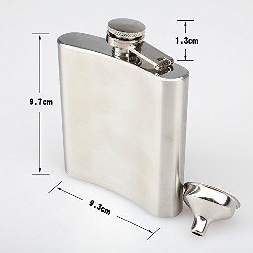 CC-JJ - Stainless Steel 6OZ Hip Alcohol Whiskey Liquor Flask