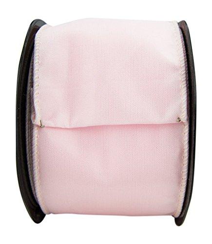 Ribbon Bazaar Wired Iridescent Taffeta 3-1/2 inch Blush (Same Color Edge) 10 yards 100% Acetate Ribbon