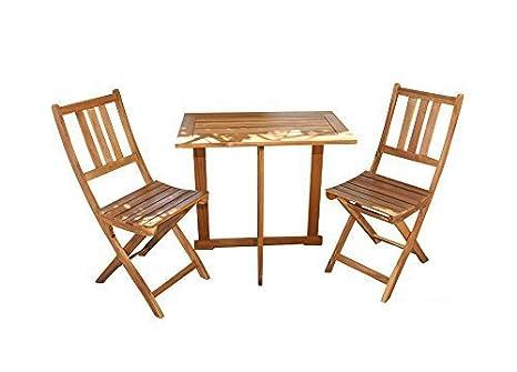 Juego de balcón SAM Alessio de 3 piezas, 1x mesa 70 x 45 cm ...