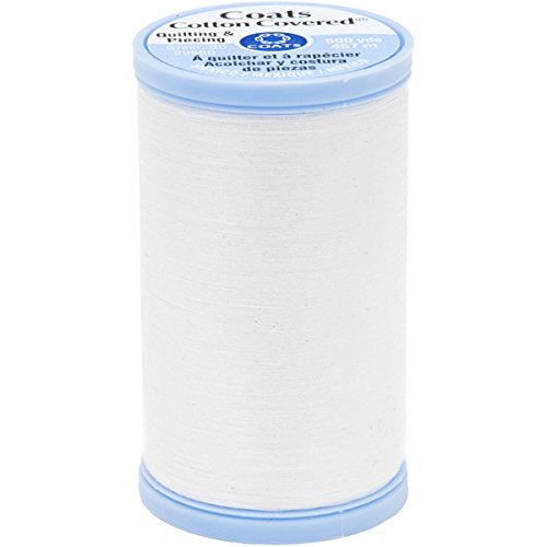Coats Cotton Covered Quilting and Piecing Thread, 500-Yard, White
