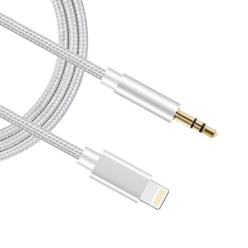 (Apple MFI Certified) Car Aux Cable, Sprtjoy 3.5mm Premium Nylon Car Home Stereo Headphone Jack Adapter for IP XR/XS/XS Max/8/8 Plus/7/7 Plus, Phone Adapter for Car Home Stereo (3ft/1M)