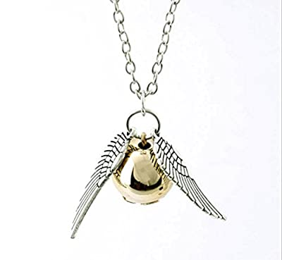 Harry Potter Golden Snitch Necklace,Male and Female Common Stylish necklace By Simon?Silver?