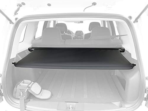 Tyger Auto OE-Style Black Retractable Trunk Cargo Cover Fits 14-Up Jeep ()