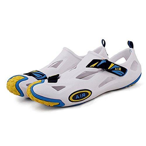 Zapatillas Calzado Ahueca EU30 Zapatillas Las Verano Playa Sandalias Mujer de Fuera Hacia Niños Hombre Ducha Respirable Antideslizante 45 Blanco2 H0qZYwY