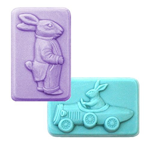 Gents Easter Soap Mold - Makes 3.5 oz Bars. Milky Way. Melt & Pour, Cold Process