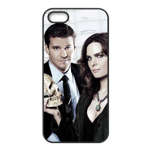 Bones 1 coque iPhone 5 5S cellulaire cas coque de téléphone cas téléphone cellulaire noir couvercle EOKXLLNCD22352