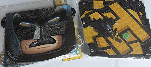The Lego Batman Movie - Party Masks - 8 pieces - Lightweight cardboard - Bonus Batman Happy Birthday Banner