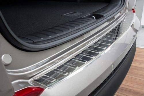 TUCSON Stainless Steel Chrome Rear Bumper Protector Scratch Guard 2015-2017
