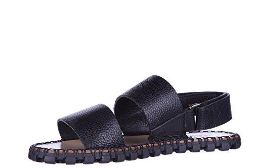 Valentino sandales pour homme en cuir noir