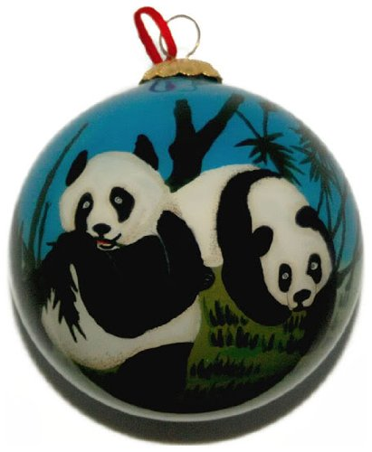 - Hand Painted Glass Ornament, Panda CO-142