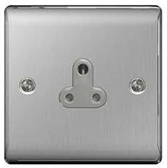 BG Nexus métal Interrupteurs /& Prises-En acier brossé