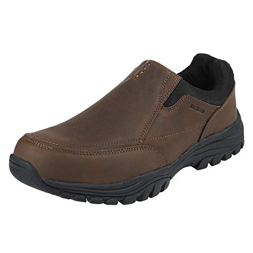 (Northside Mens Whitman Loafer, Dark Brown, Size 8.5 M US)