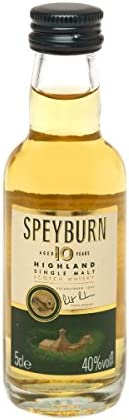 Speyburn 10 Years Old Speyside Single Malt Scotch Whisky 40% Vol. 0.05L - 50 ml