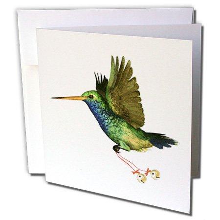 Hummingbird Christmas - Greeting Card, 6 x 6 inches, single (gc_37130_5)
