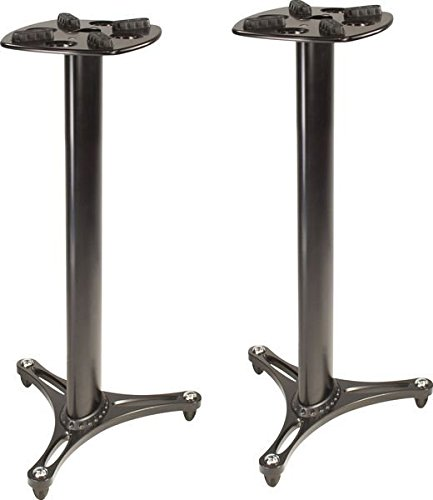 Ultimate Support MS-90/36B MS Series Professional Column Studio Monitor Stand with Non-marring Decoupling Pads - 36