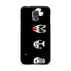 Shock Absorbent Hard Phone Covers For Samsung Galaxy S5 (AxS16187kozw) Allow Personal Design Nice Kiss Band Pattern