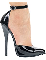 Ellie Shoes E-8265 6 Heel Fetish Pump With Ankle Strap.