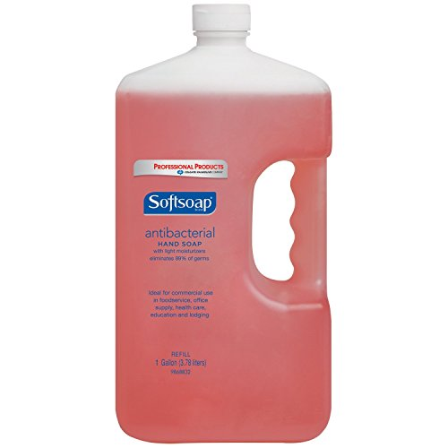 SOFTSOAP Antibacterial Liquid Hand Soap Refill, Crisp Clean, Antiseptic Hand Soap, Moisturizing Hand Soap, 1 Gallon (Pack of 4) (Antiseptic Lotion Hand Soap)