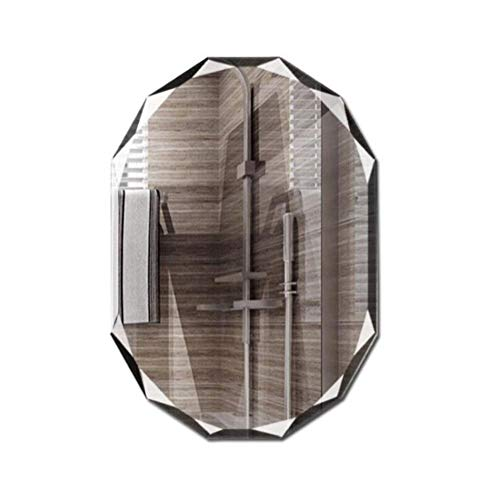 ASDFGH Large Diamond Edge Oval Wall Mirror for Wash Basins, Bedroom Or -