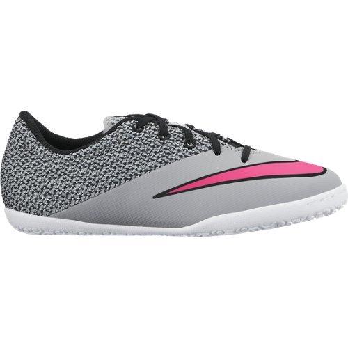 Nike Jr Mercurialx Pro IC - Botas para niño Gris (Wolf Grey / Hyper Pink Blk White)