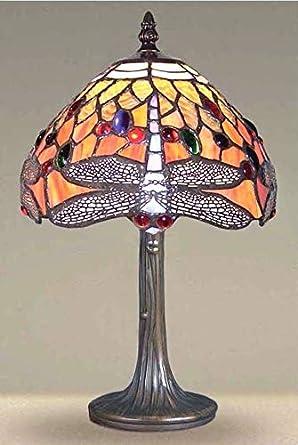 Tiffany Style - Lámpara de mesa de cristal hecha a mano para mesa ...