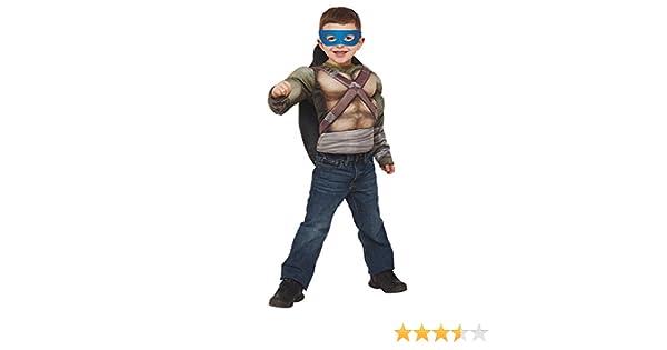 Disfraz de Tortuga Ninja para niños, Pecho musculoso en caja, infantil 5-6 años (Rubies 31895)