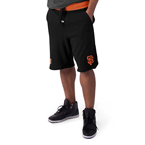 MLB San Francisco Giants Men's Post Up Shorts, Jet Black, - Francisco Giants Mens Shorts San