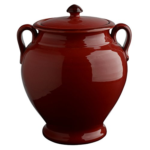 Italian Dinnerware – Biscotti Jar – Handmade in Italy from our Rosso Collection