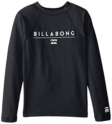 - Billabong Little Boys' Performance Fit Long Sleeve Rashguard, Black, 2