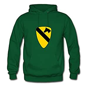 Green Casual Diatinguish 1st Cavalry Hoodies X-large Women Customizable