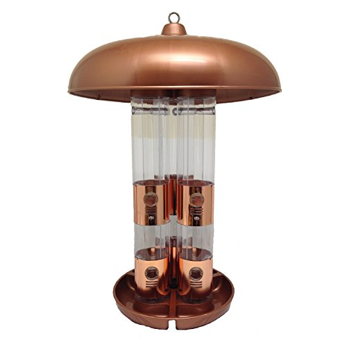 Jur_Global Copper Triple Tube Bird Feeder