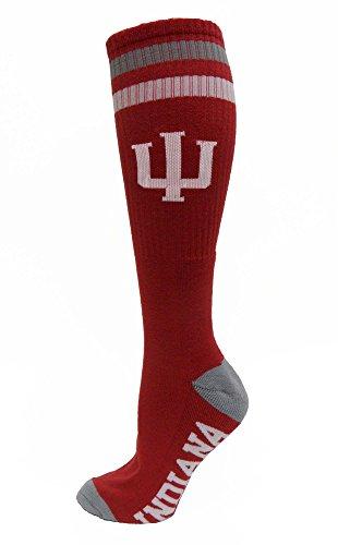 NCAA Indiana Hoosiers Tube Socks, One Size, Red
