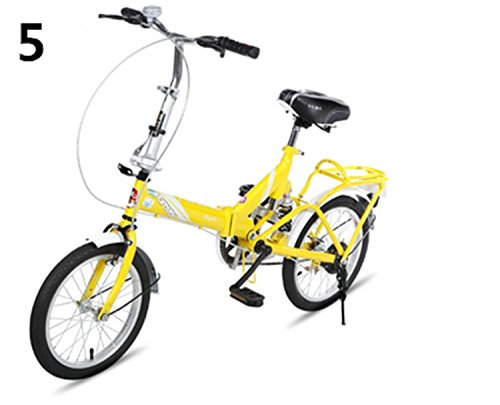 16インチ 折りたたみ自転車 折畳自転車 おりたたみ自転車W385 B00QA15YG8 イエロー5 イエロー5