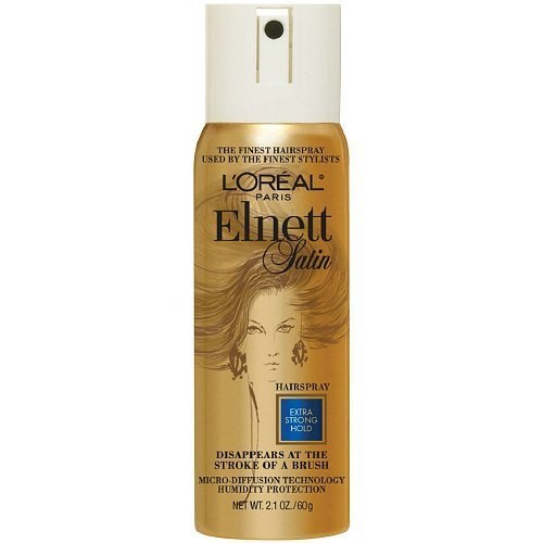 (L'Oreal Paris Elnett Satin Hairspray, Travel Size, Extra Strong Hold 2.2 oz (Pack of2) by L'Oreal Paris)