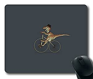 Funny T-Rex On Bicycle Easter Thanksgiving Personlized Masterpiece Limited Design Oblong Mouse Pad by Cases & Mousepads