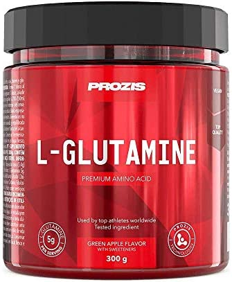 Prozis L-glutamina Componente Fundamental de las Proteínas, Manzana Verde - 300 g