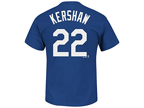 Majestic Clayton Kershaw Los Angeles Dodgers Blue Youth Jersey Name and Number T-shirt X-Large 18-20