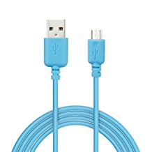 EZOPower Extra Long 10ft Micro-USB 2in1 Sync and Charge USB Data Cable for Sony Xperia Z1s, Xperia E, Xperia SP, Xperia L, Xperia M, Xperia Z Ultra, Xperia U ST25i, Xperia ZL, Xperia TL LT30at, Xperia P LT22i, Xperia Z and Other Smartphone (Blue)