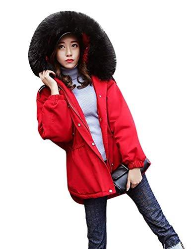 Piel De Outdoor Invierno Rot Mujer Informales Ropa Con Manga Elegantes Chaqueta Temporada Fashion Capucha Basic Outerwear Abrigos Larga Espesar Caliente Imitación vYnTa
