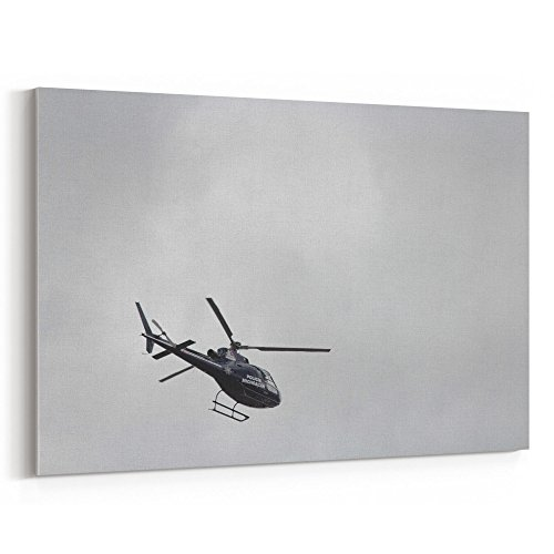Westlake Art - Sky Helicopter - 24x36 Canvas Print Wall Art - Canvas Stretched Gallery Wrap Modern Picture Photography Artwork - Ready to Hang 24x36 Inch