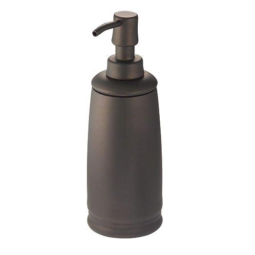 mDesign Dispensador de jabón Recargable – Dosificador para jabón de Metal y Acero inoxidables – Elegante Accesorio de baño o Cocina – Color Bronce