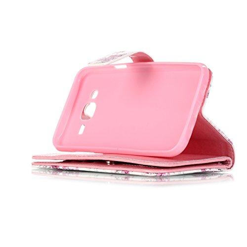 Conector nbsp;versión 7 nbsp;2015 Diseño tarjetero Piel Flip Cover Galaxy 12 Smartphone 4 Executive Samsung Polvo Funda nbsp;pulgadas J5 nbsp;cm Cartera 12 Para 5 Marrón q0wRCXn