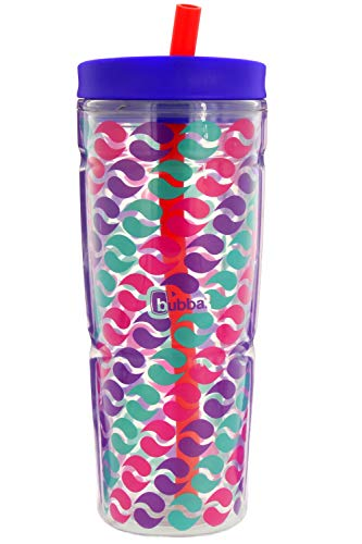 bubba Envy Dual-Wall Insulated Tumbler with Straw, 24 oz., Purple Graphic Circles