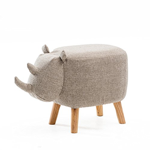 Children's shoes bench Creative sofa stool/Living room stool/Coffee table stool/Bed stool Fabric footstool/Solid wood stool/Stool/Door stool/Home stools/64.541cm (Color : 1)