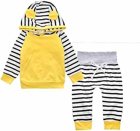 986bf5d71d4f Yilaku Eyelash Cute Newborn Baby Girl Clothes Top + Pants + Headband 3pcs  Toddler Clothing Sets