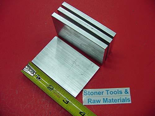 4 Pieces 1/4'' X 2'' Aluminum 6061 Flat BAR 3'' Long T6 .25'' Plate New Mill Stock
