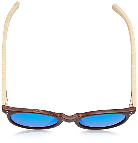 Ocean Lens Wood Bamboo Arms Lizard Dark Soleil Sunglasses Revo Blue Natural Frame de Lunettes qUwHfS