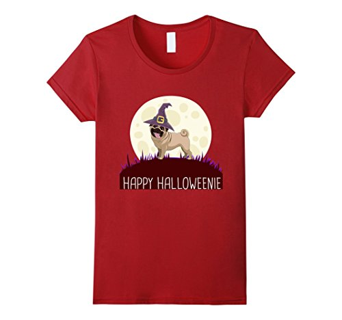Cranberry Lovers Gift (Womens Happy Halloweenie With My Pug, Best Gift For Pug Lover Small Cranberry)