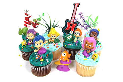 Bubble Guppies 19 Piece Birthday Cupcake Topper Set Featuring 12 Bubble Guppies 2