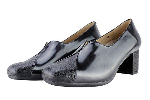 Femme Confortables Escarpins Cuir 175303 Amples Piesanto Negro Confort Chaussure En black fqwdf0